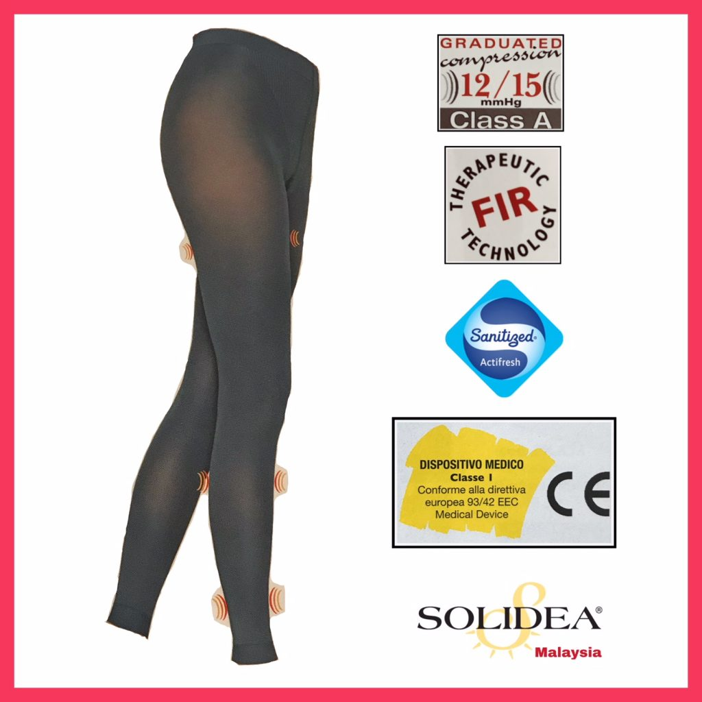 SOLIDEA Red Wellness 70 Den Leggings